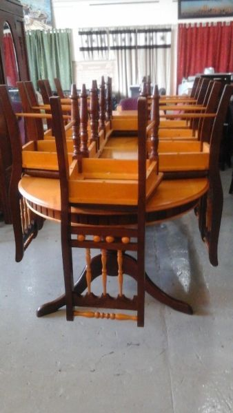 Yellow Wood Dining Suite Dutch Furniture Furniture Replica