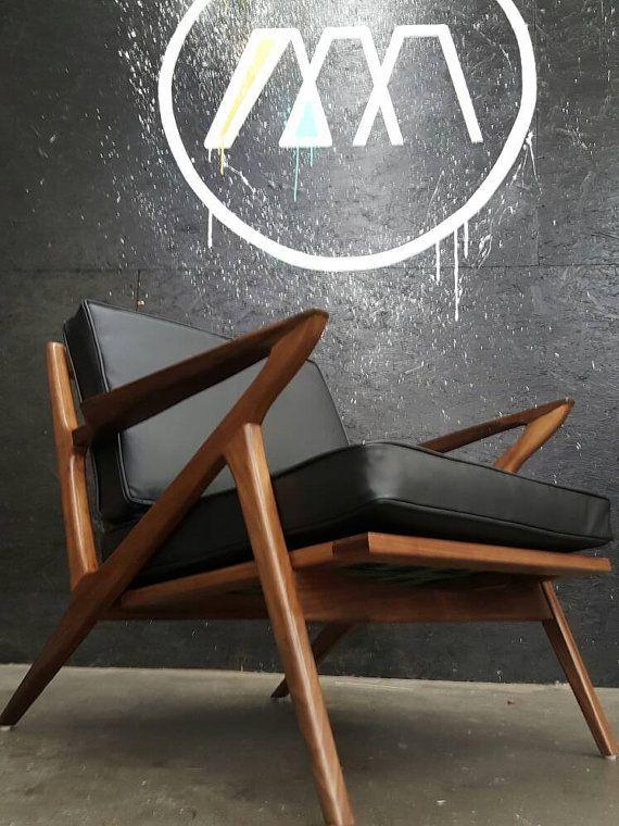 Mid Century Selig Style Z Chair | Mid century, Mid-century ...