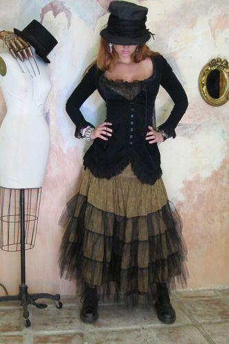 Marrika Nakk | Rodeo Cinderella Skirt & Belle Jacket in velvet - love the way the tulle changes the color