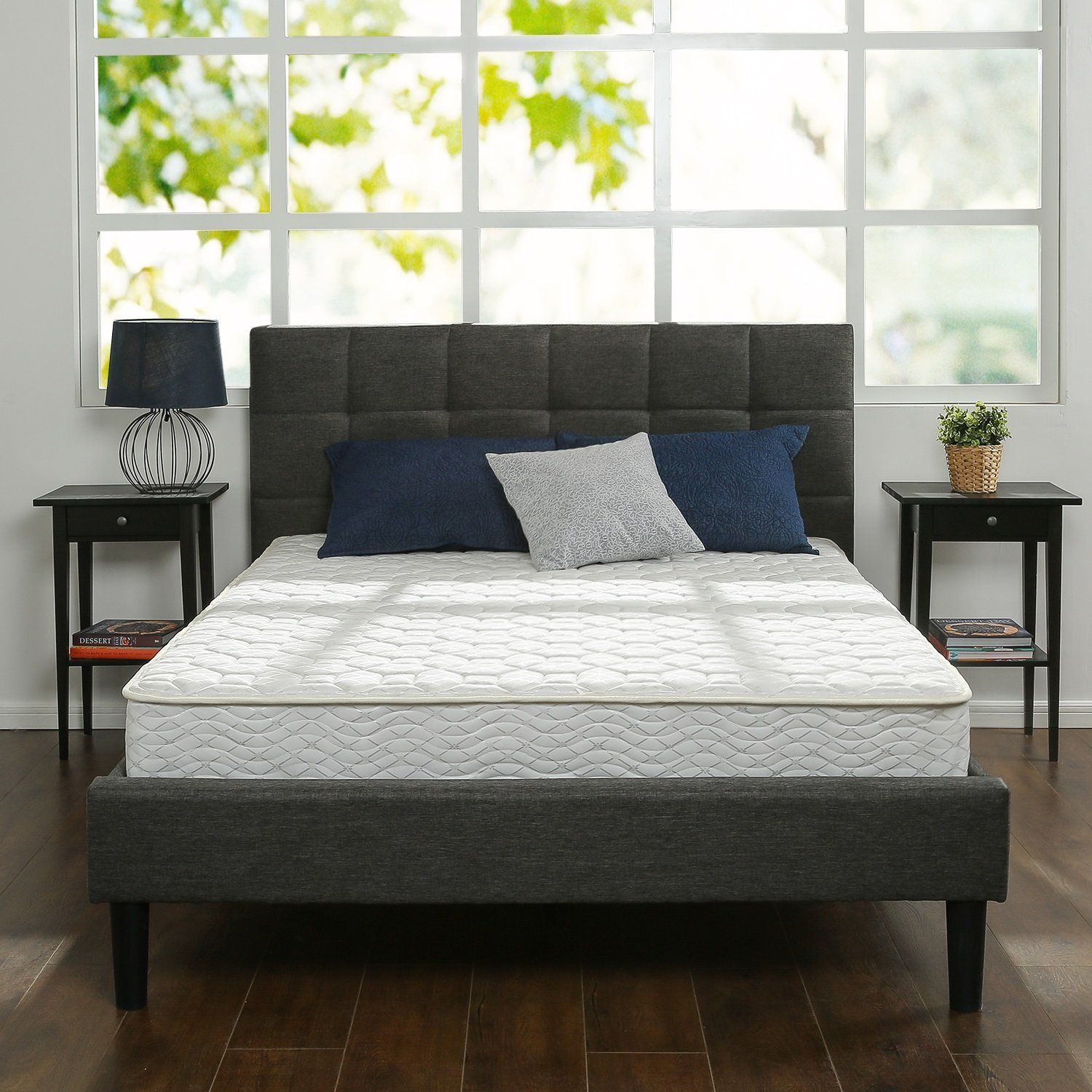Zinus 8 Inch Hybrid Green Tea Foam and Spring Mattress