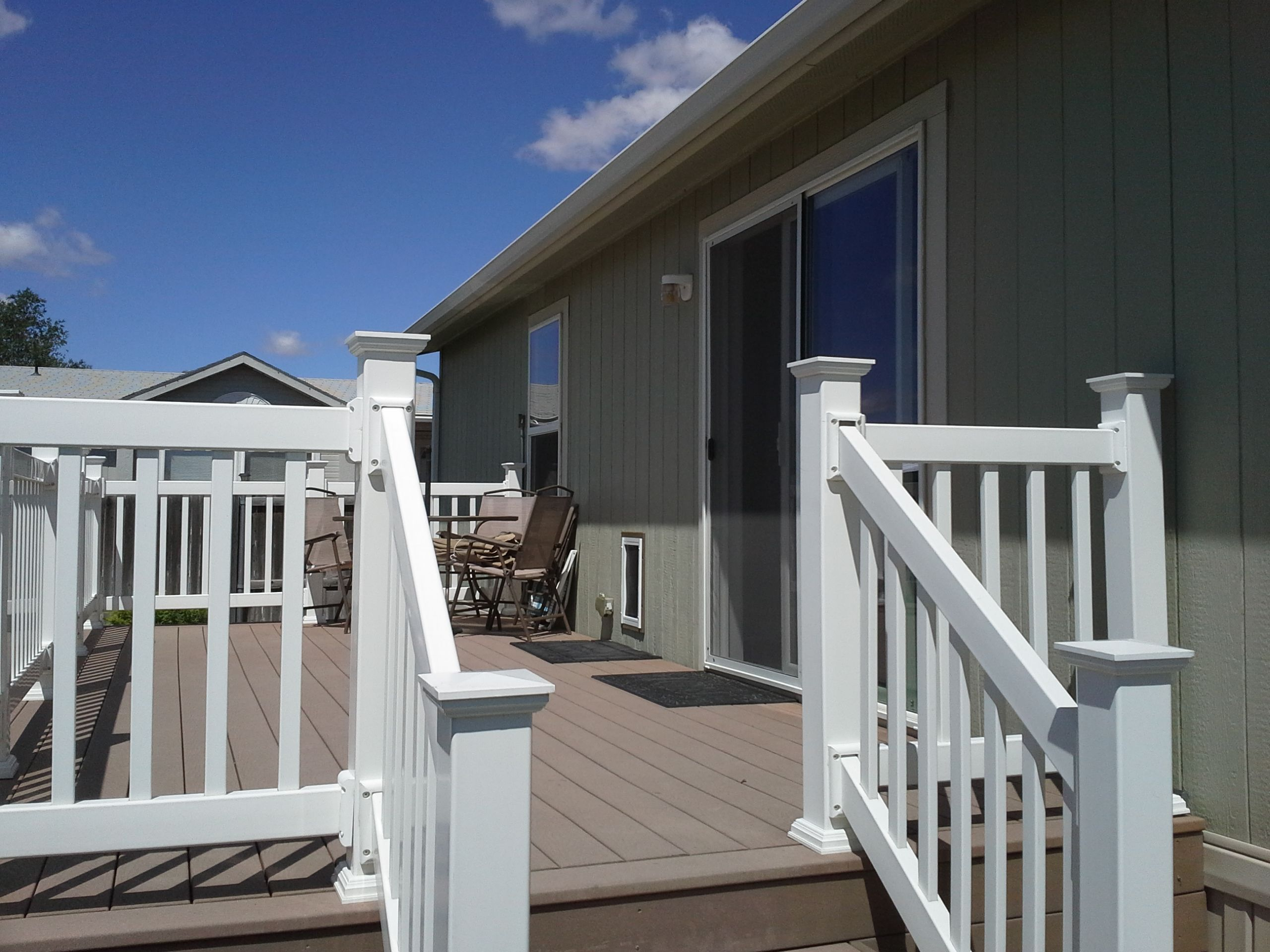 back patio deck. (10' x 20') made from trex decking and