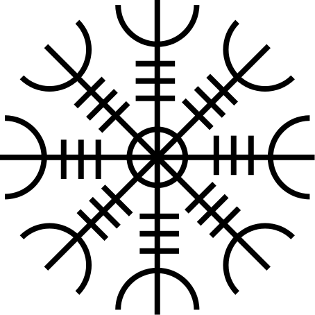3805fade6 ~The Helm of Awe~ Probably the most well known of the Icelandic staves,