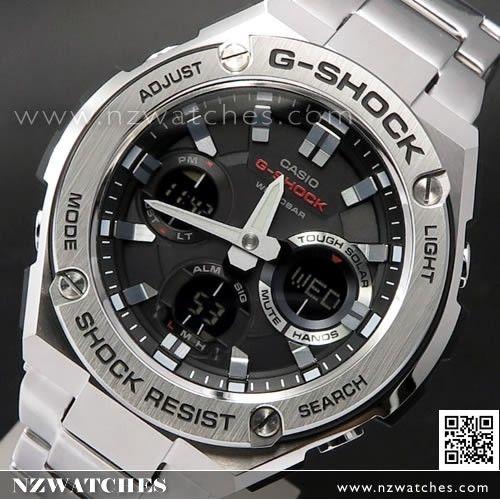 Casio G-Shock Analog Digital Solar Stainless Steel Band Sport Watch  GST-S110D-1A acc25127b