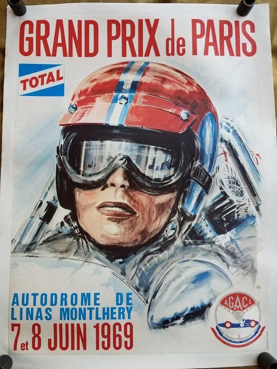 Grand Prix Poster Etsy In 2021 Vintage Racing Poster Grand Prix Posters Racing Posters