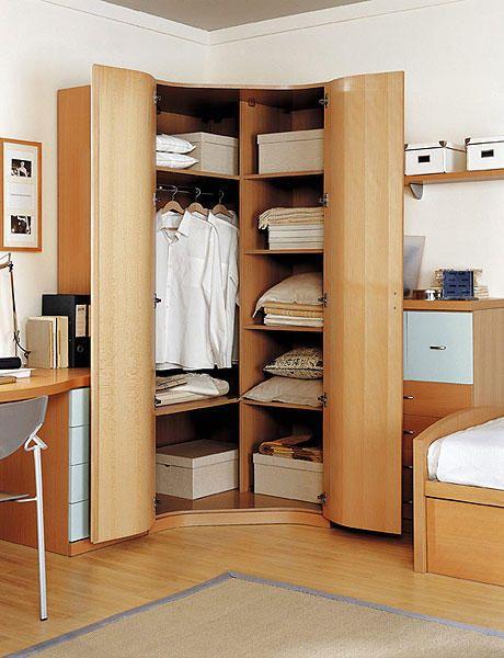 Armarios d nde colocarlos todo en orden pinterest dormitorio deco armario esquina y armarios - Armarios empotrados en esquina ...