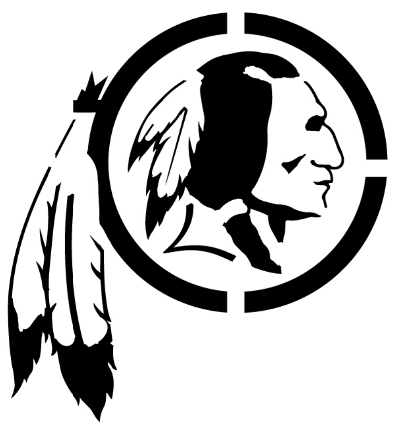Washington Redskins Logo Pumpkin Stencil Chris Creamer's