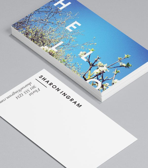How many ways a business card is an opportunity to say hello in a create customised business cards from a range of professionally designed templates from moo choose from designs and add your logo to create truly colourmoves