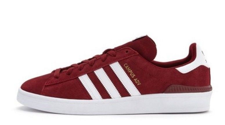Adidas campus adv red new style suede