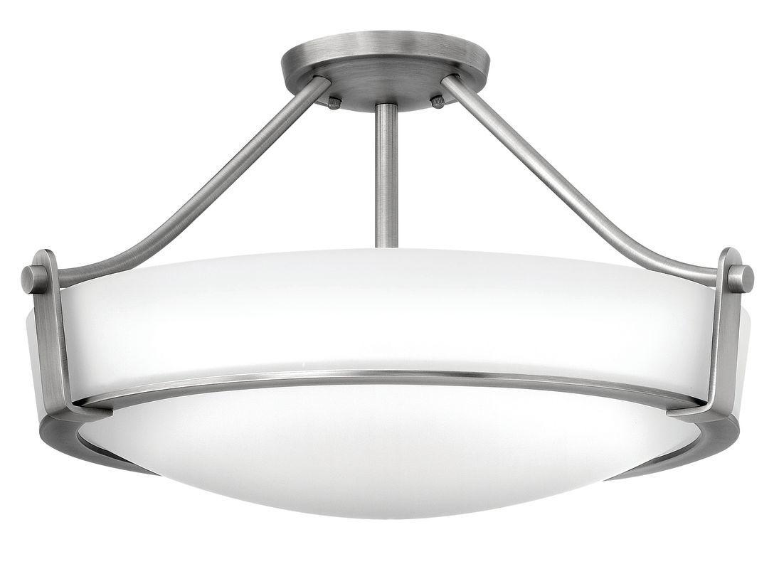 """Hinkley Lighting 3221 Hathaway 4 Light 20-3/4"""" Wide Semi Flush Ceiling Fixture w Antique Nickel Indoor Lighting Ceiling Fixtures Semi-Flush"""