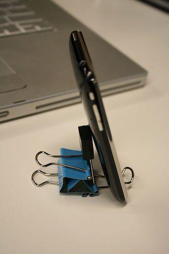 IPhone Binder Clip Stand Ver 2.0 | Diy phone stand, Desk ...