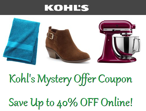Kohls mystery offer coupon code save up to 40 off online order kohls mystery offer coupon code save up to 40 off online order fandeluxe Gallery
