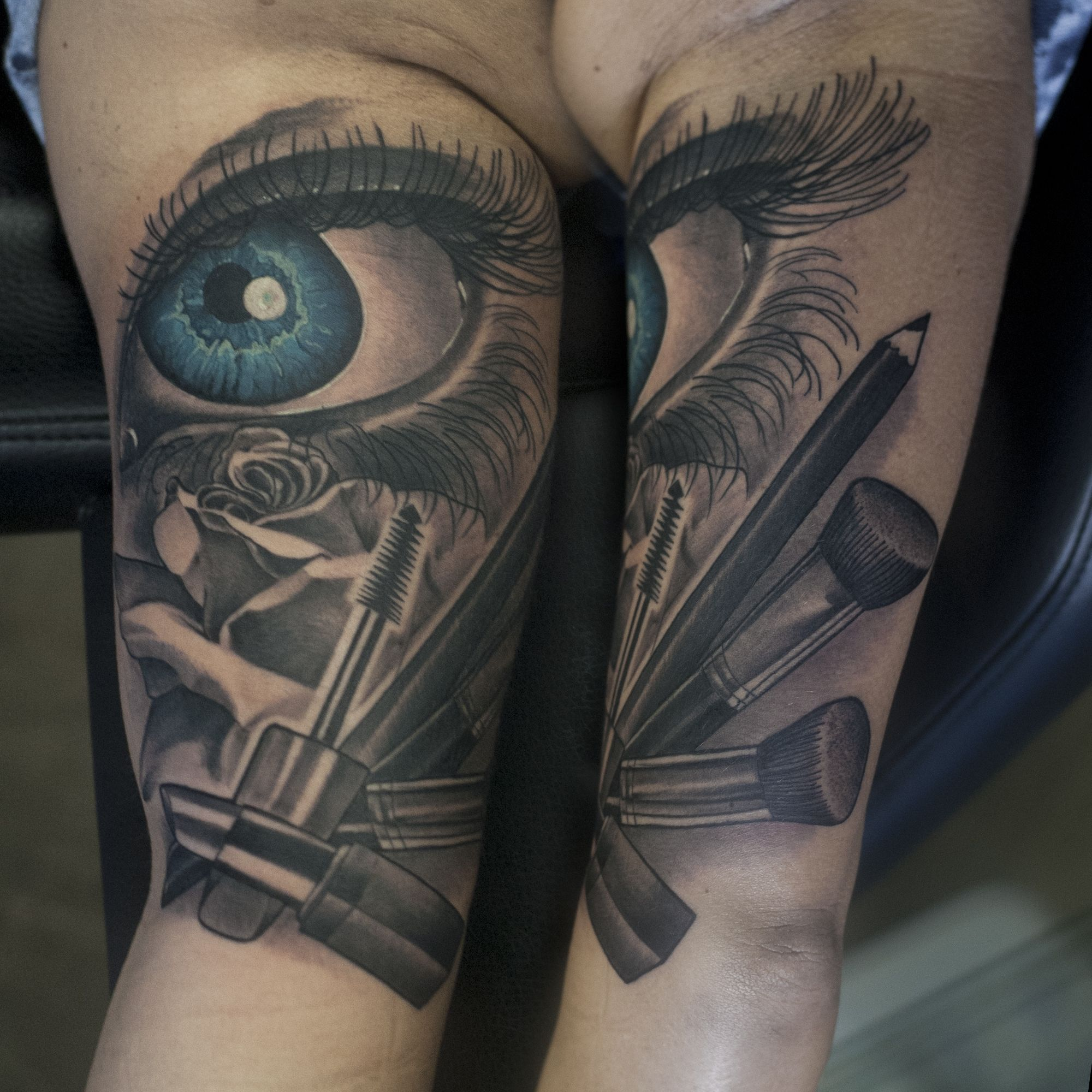 Make up tattoo for a make up artist hairstylist