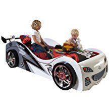 Kinderbett auto weiss  Autozimmer: Autobett für das Kinderzimmer | Kinderbett im Auto ...