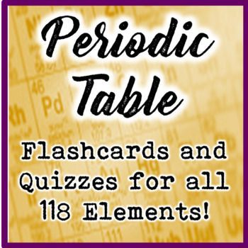 Periodic Table Element Flashcards and Quizzes (All 118 Elements - new periodic table chloride symbol