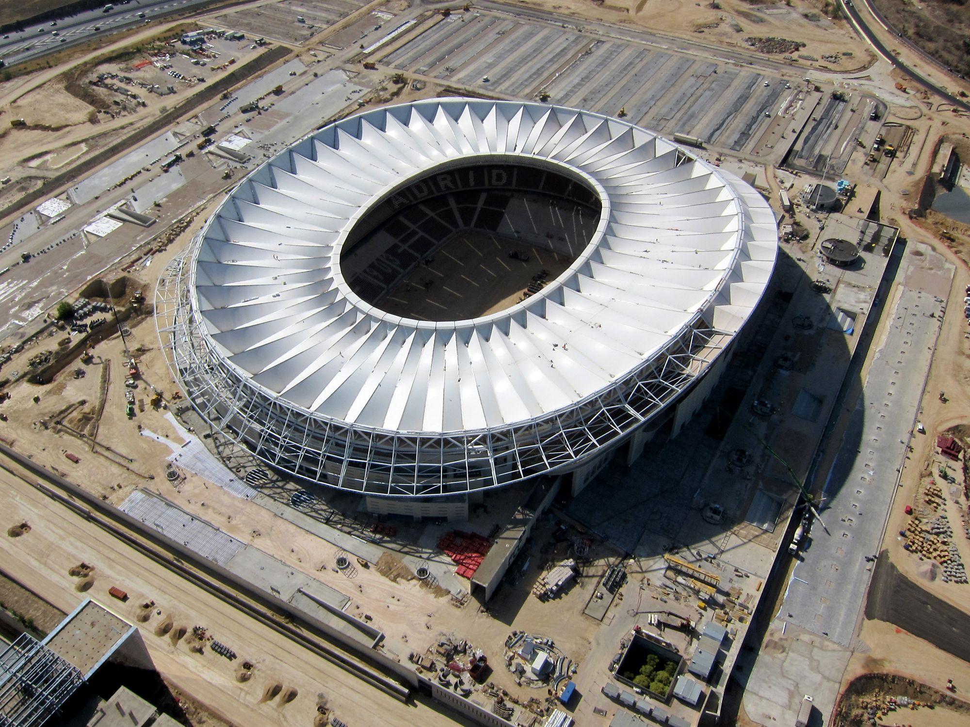 Atlético apresenta projeto inovador de ilumina§£o para o seu novo estádio