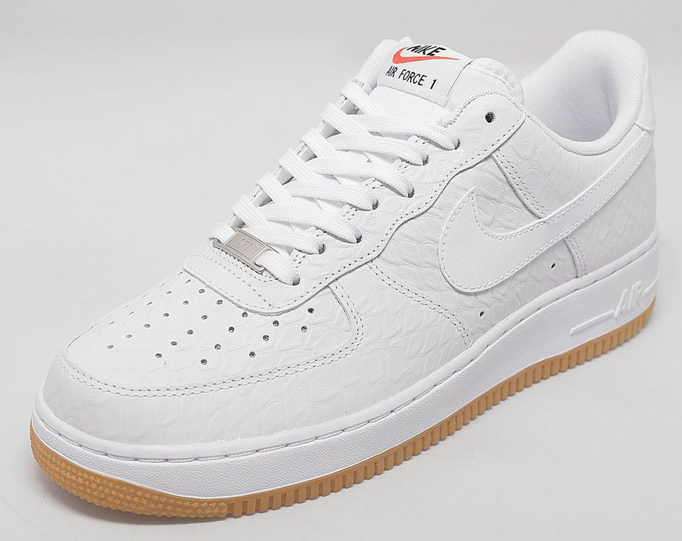 nike air force 1 low white croc & gum