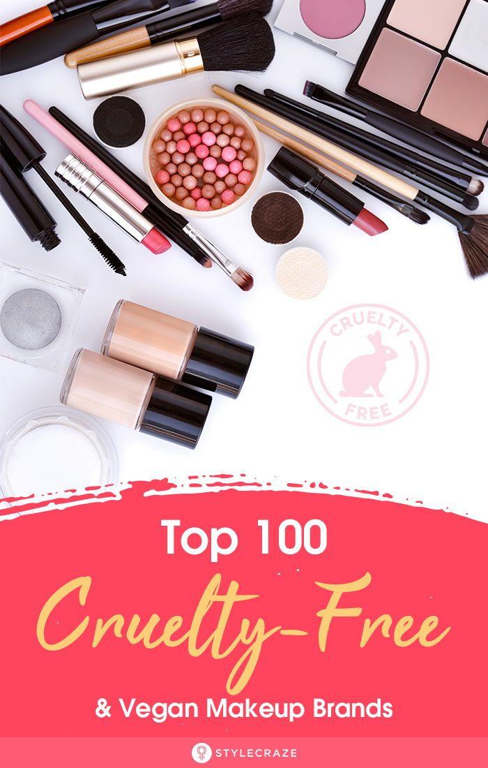 Top 100 CrueltyFree And Vegan Makeup Brands That We
