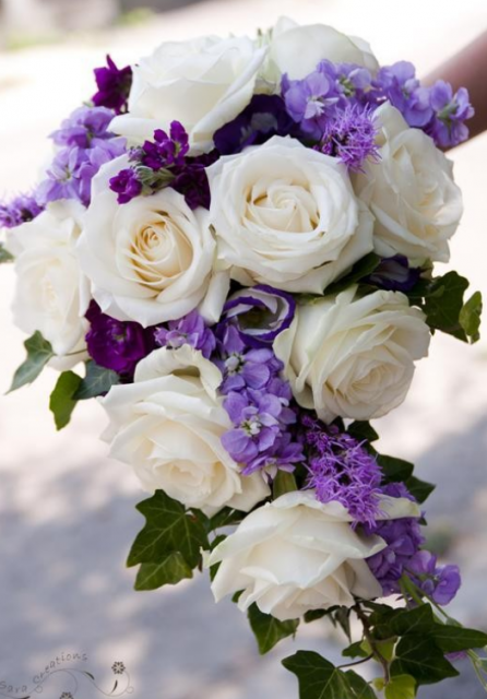Purple bridal bouquets with white roses and purple flowersg i purple bridal bouquets with white roses and purple flowersg mightylinksfo