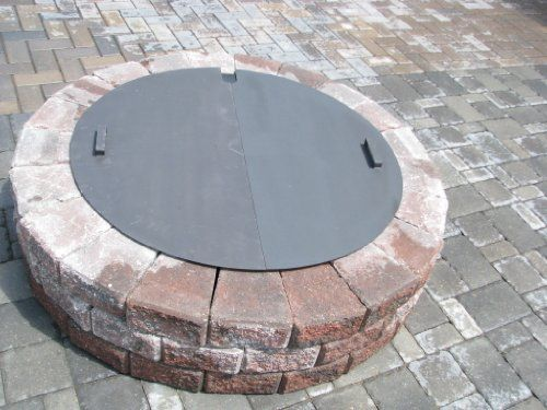 Special Discount Round Steel Fire Pit Cover Snuffer Fire Pit