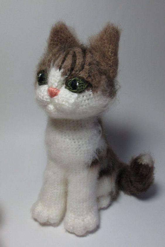Grey Cat - pdf crochet toy pattern on Etsy, $6.00: | HANDWORK and ...
