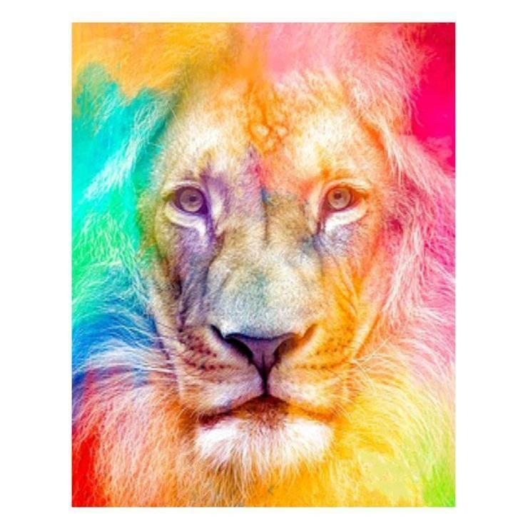 5d Full Diamond Painting Kits Best Watercolor Lion Qb05870
