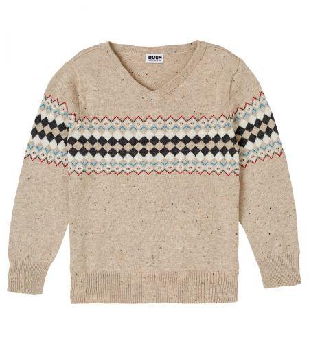 RUUM toddler boys 'Northen Bright Vneck' sweater