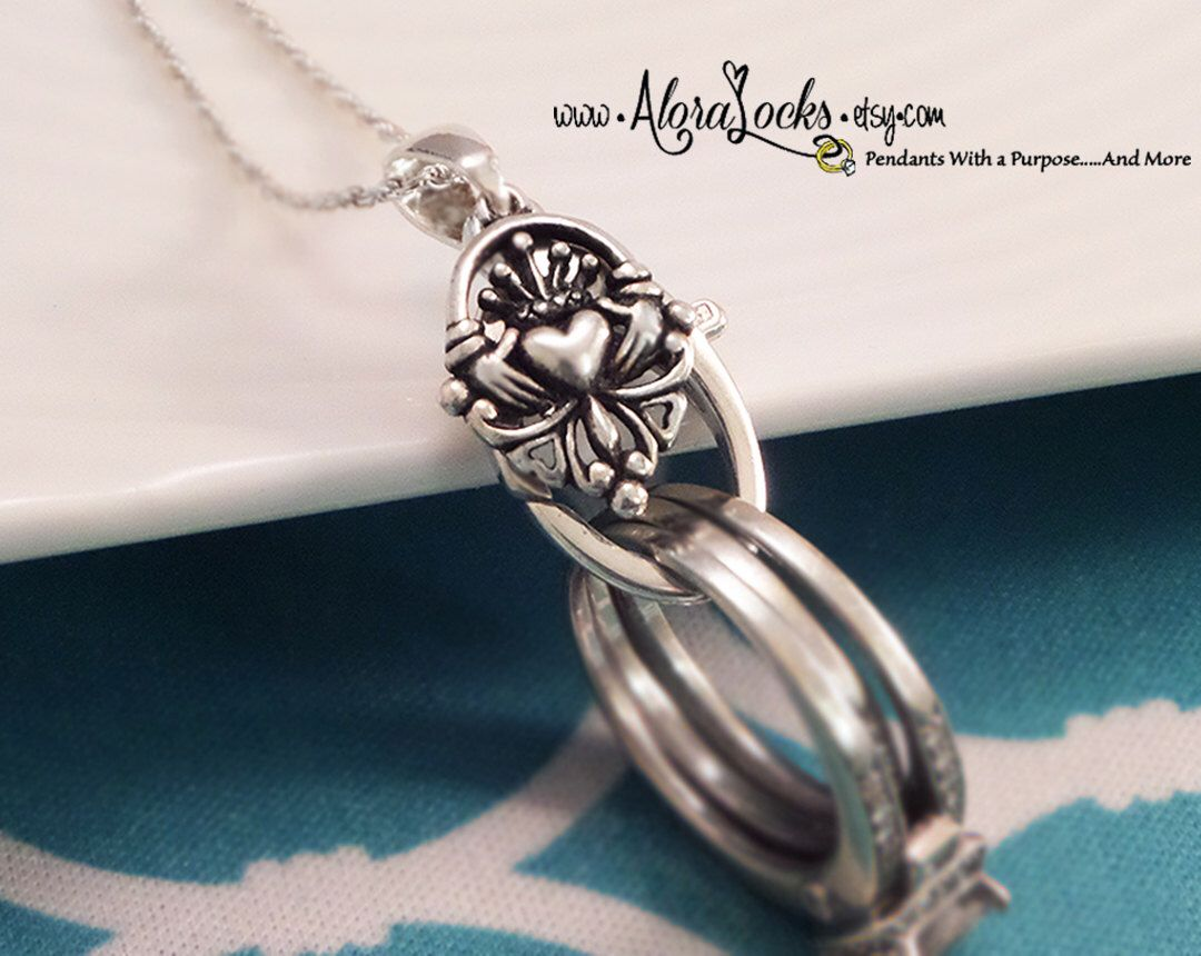 Aloralocks Sterling Silver Celtic Claddagh Wedding Ring