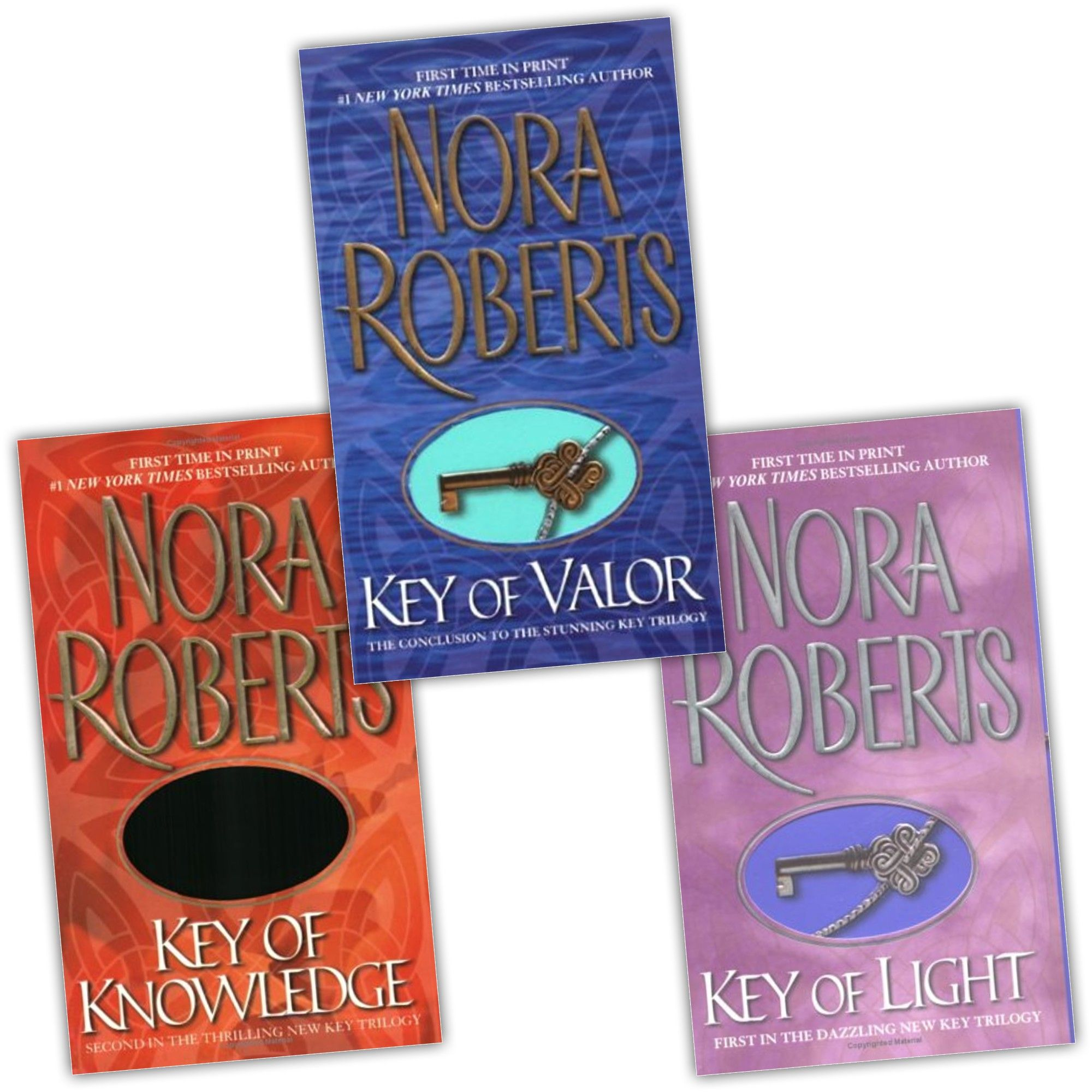 Nora Roberts Lot Of 3 Key Trilogy Key Of Valor Key Of Light Key