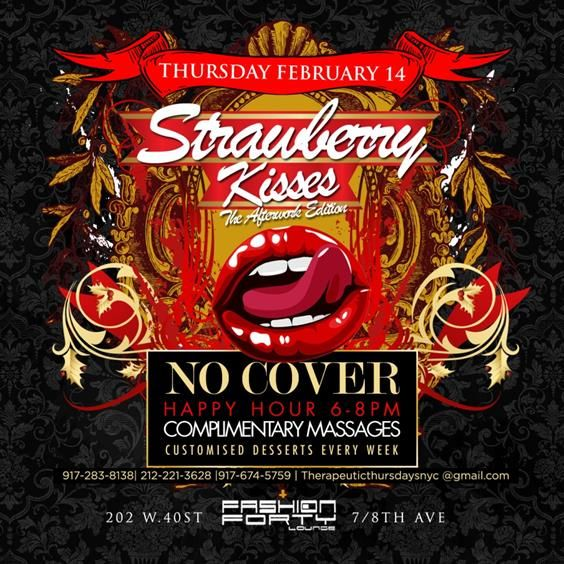 Strawberry Kisses The Afterwork Edition @Fashion Forty Thursday February 14, 2013