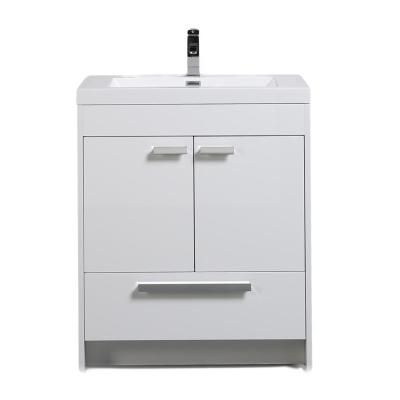 Eviva Lugano 30 In W X 19 In D X 34 In H Vanity In White With
