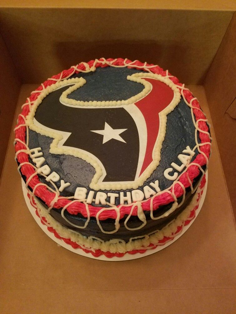 Texans Birthday Cake My Cakes Pinterest Texans Birthday