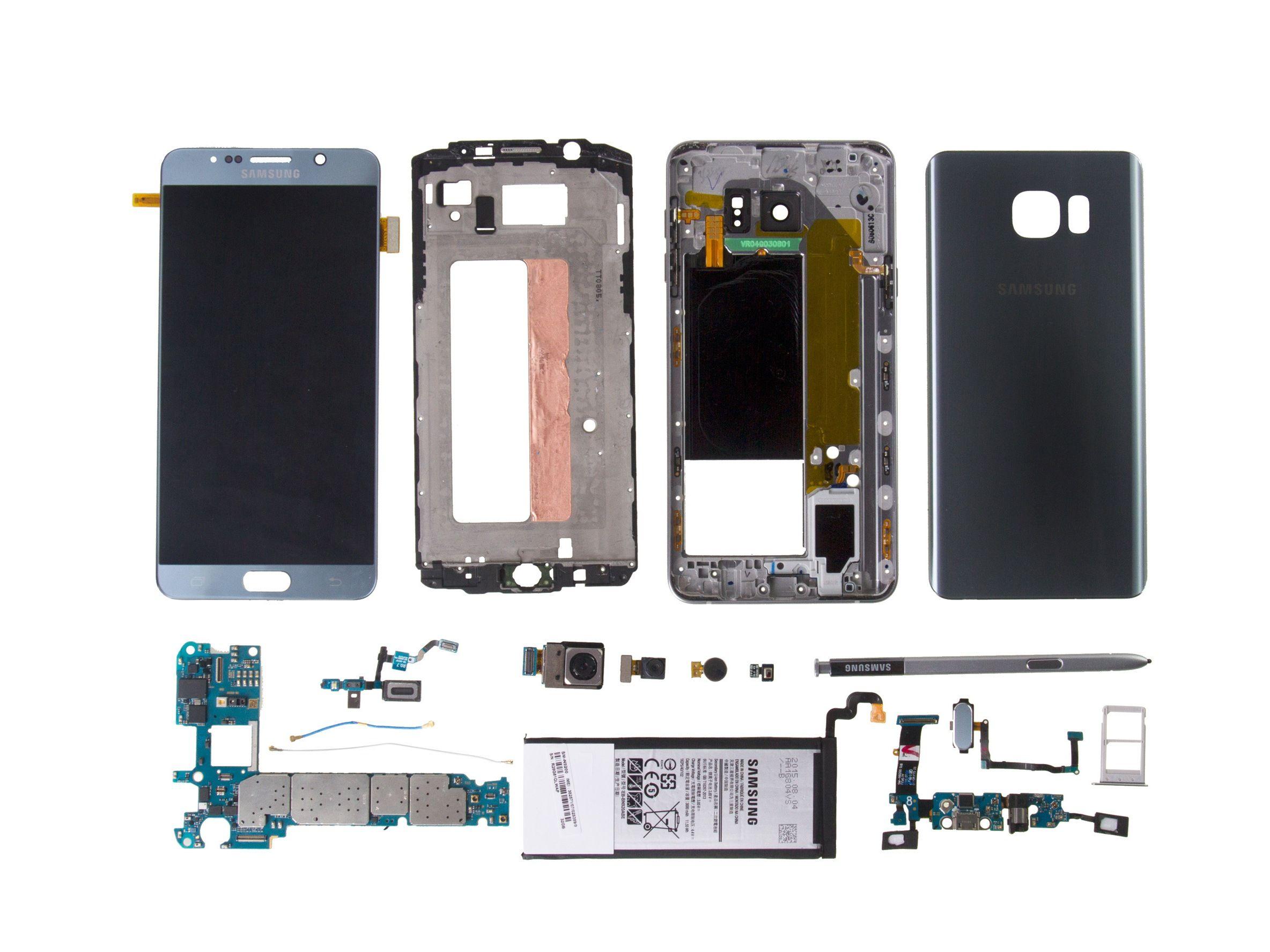 Samsung Galaxy Note5 Teardown Galaxy Note 5 Samsung Galaxy Galaxy