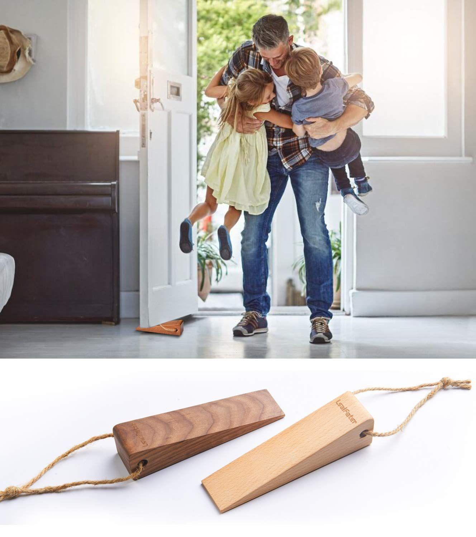 Security Large Soild Wood Door Stopper Non Slip Door Stops With Premium Heavy Duty 1 Piece Beech Ad Wood Affiliate Door Stops Door Stopper Wood Doors