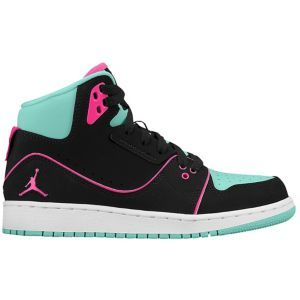 Jordan 1 Flight 2 - Girls  Grade School - Bleached Turq Hyper Pink Black f784c48bc