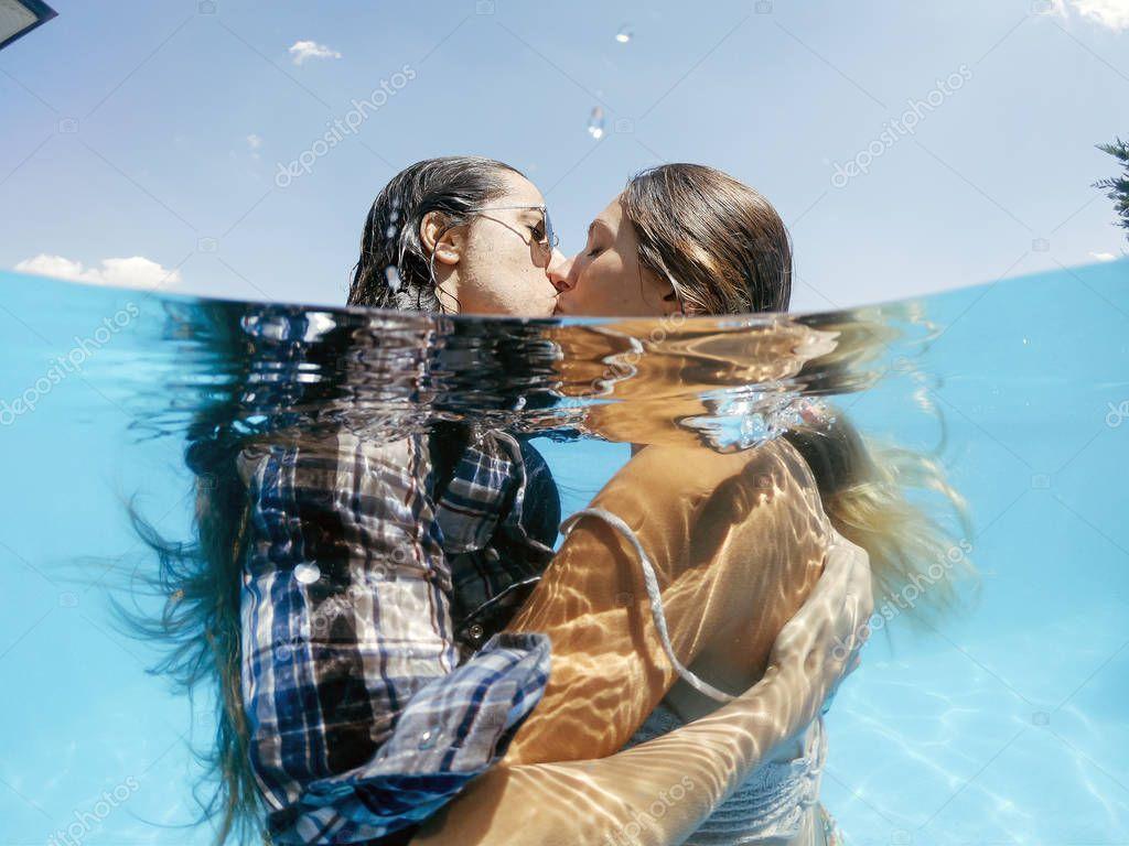 Sexy Japanese Lesbians Kissing