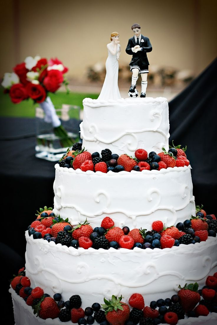 Cakes By Kim: A Soccer Players Wedding featuring our cake topper ...