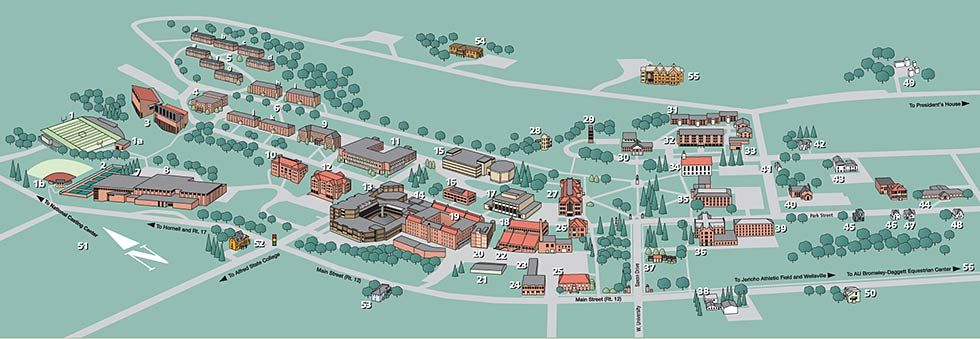 Alfred University Campus Map Stuff you should know