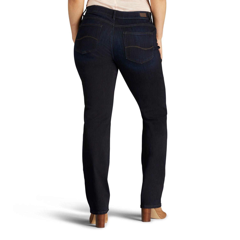 535ebf46c2d Plus Size Lee Flex Motion Regular Fit Straight-Leg Jeans  Flex ...