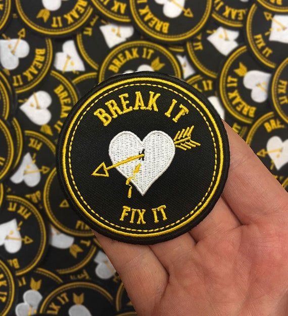Break It Fix It Embroidered Patch Embroidered Patches Pin And Patches Cute Patches