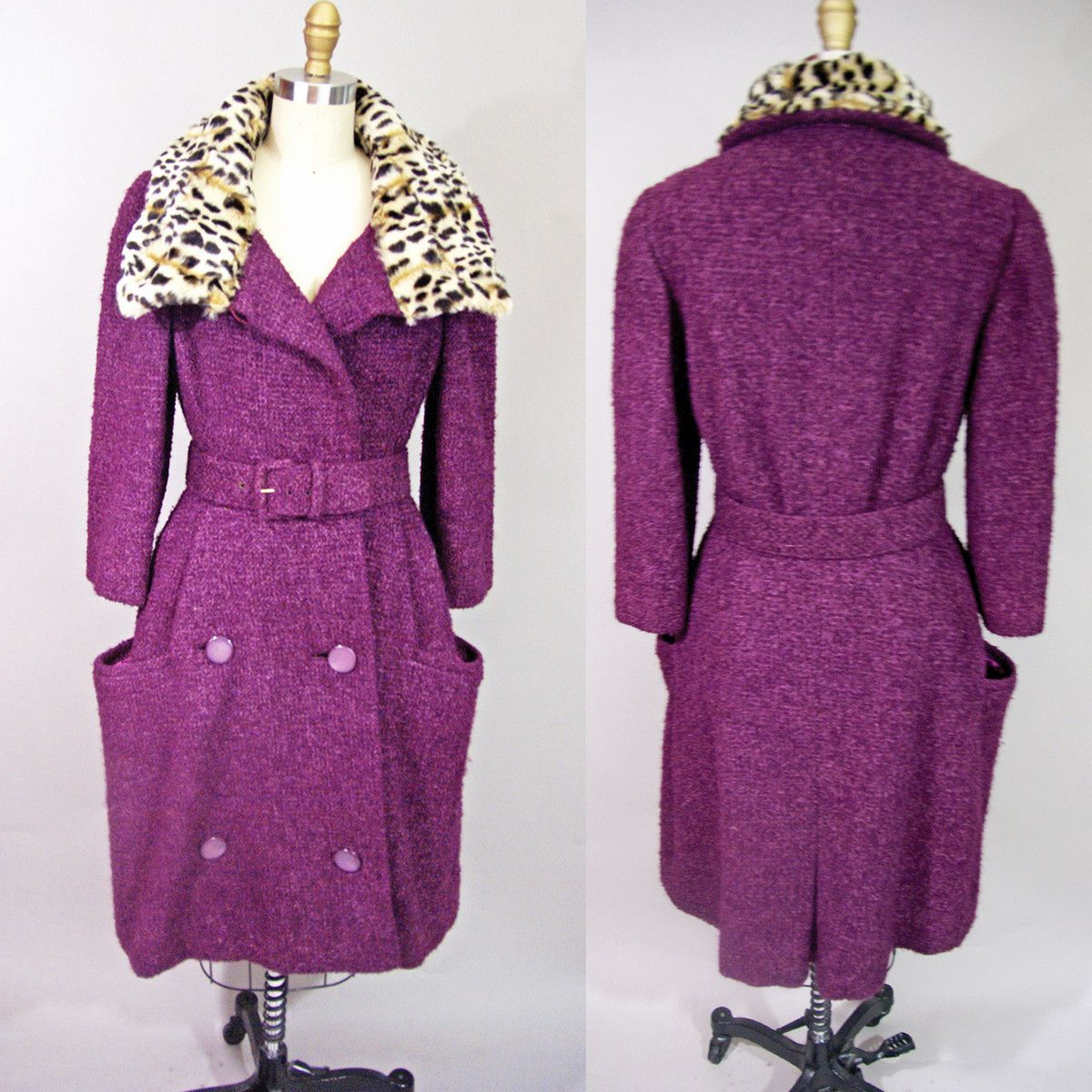Fab 60s Artwork: '60s Blums Vogue Boucle Coat - Blums Vogue Of