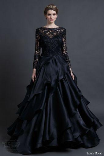 vestidos negros de boda para novias rockeras. | moda, outfits e