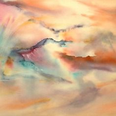 Aquarelle Abstraite Oeuvre Contemporaine Originale Signee Envol