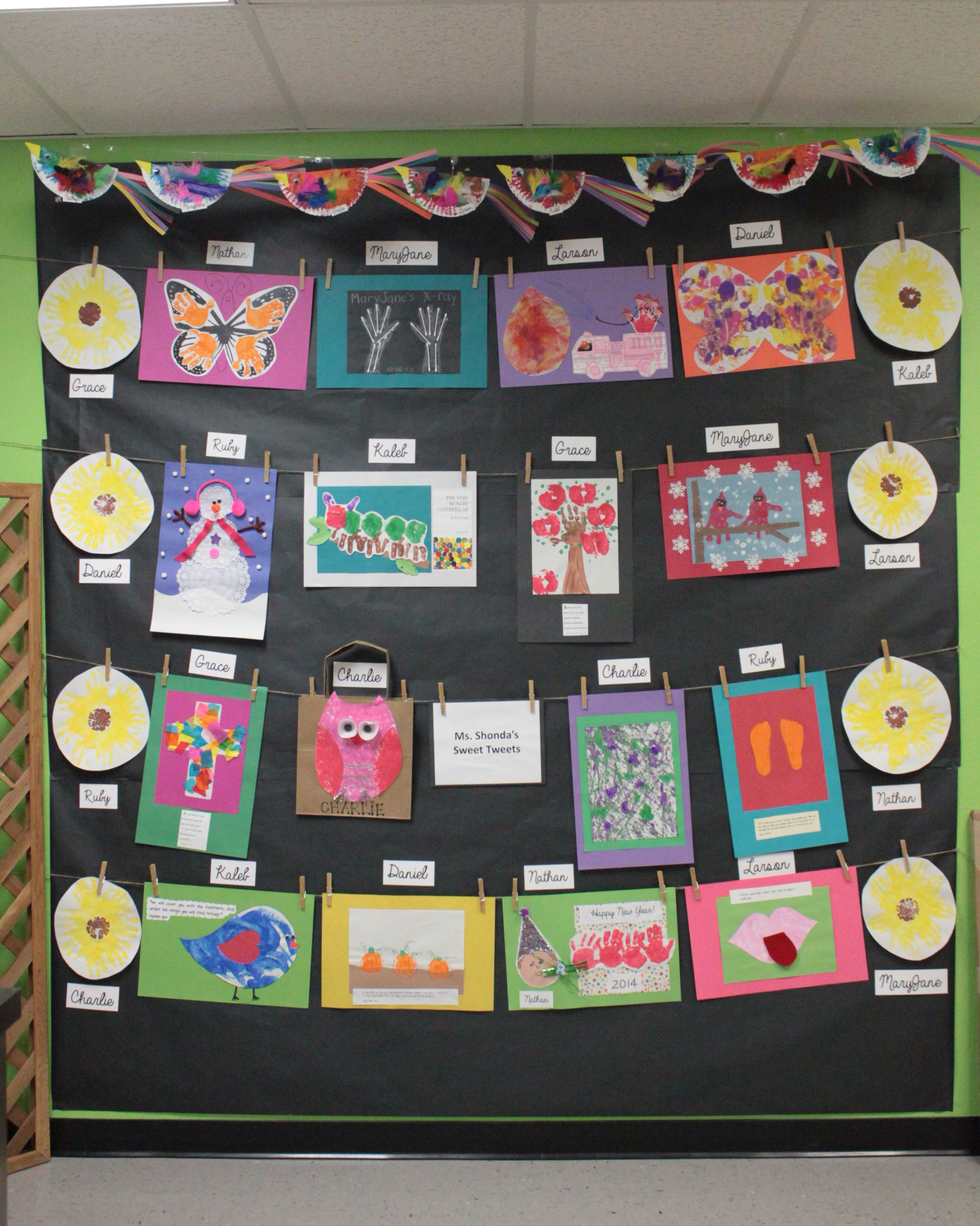 Preschool Art Show Display 2014 Personal Projects