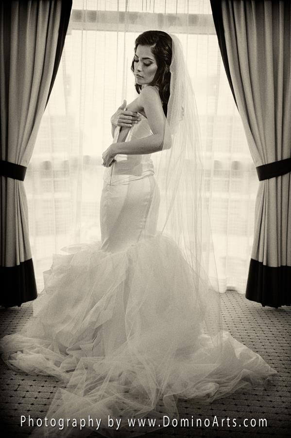 A beautiful @Vera Wang #gown and an absolutely stunning #bride @The Ritz-Carlton, South Beach. #Bridal #Portrait by #DominoArts #Photography (www.DominoArts.com)