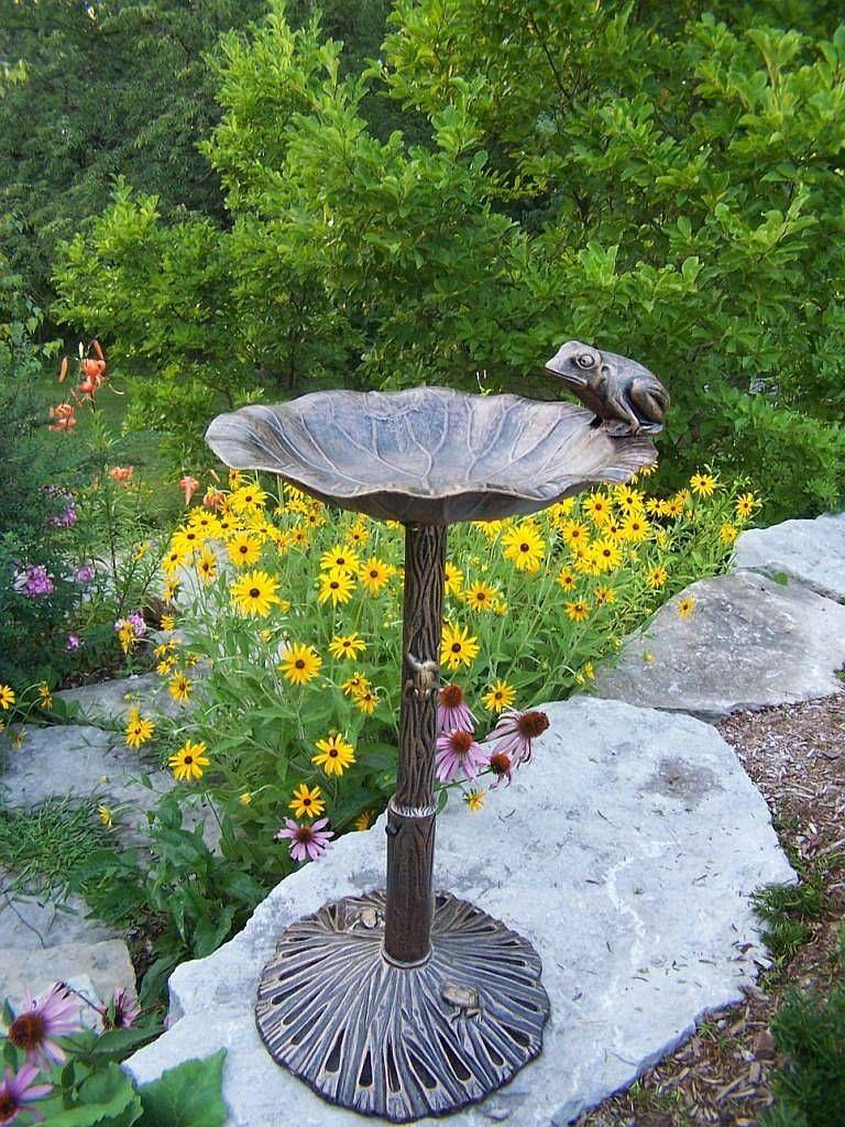 Frog Bird Bath | Birds-Houses-Baths-Butterflies | Pinterest ...