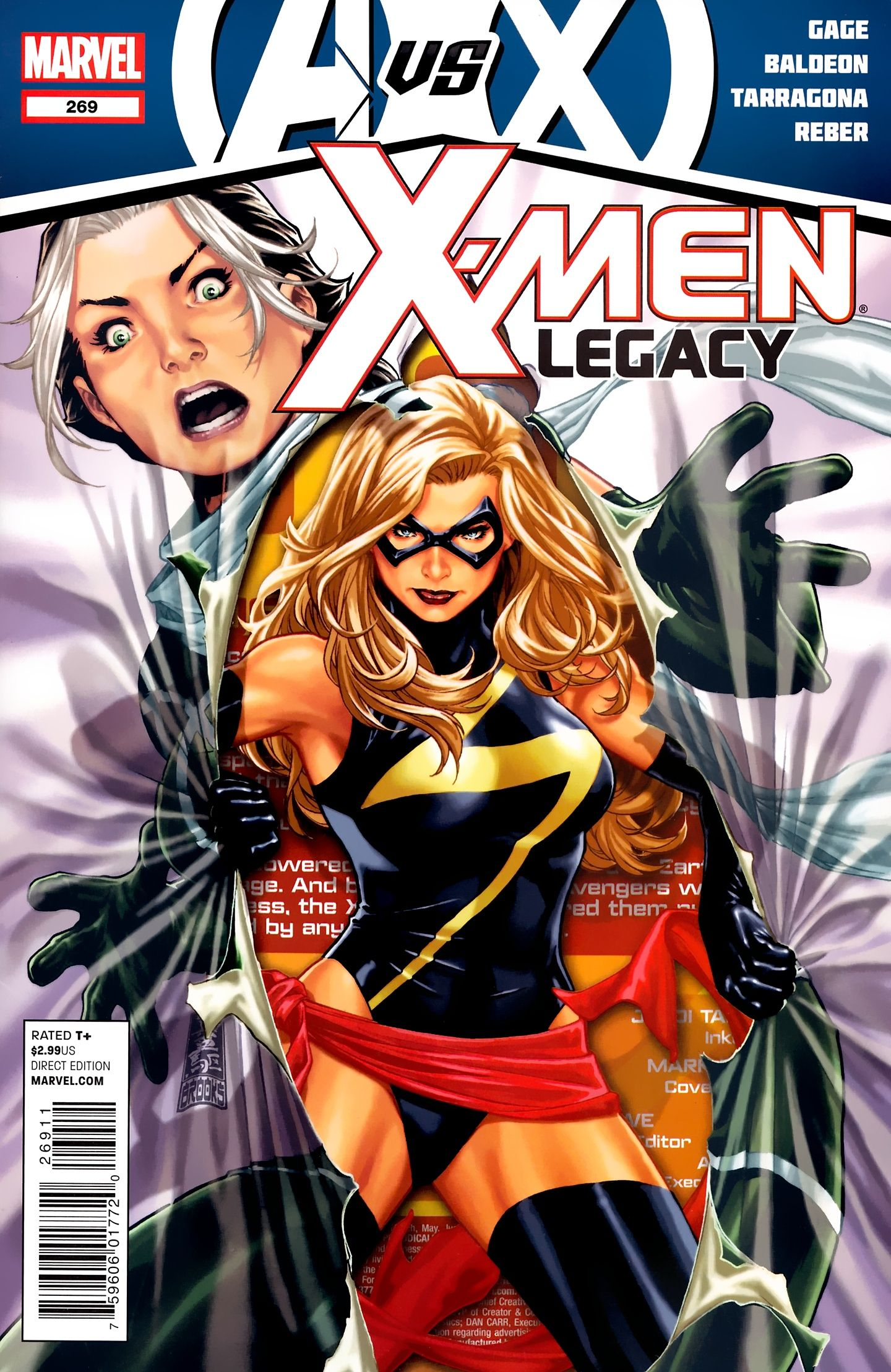 X Men Legacy Vol 1 269 Cover Art By Mark Brooks Comic Books Art Cover Art Comic Book Cover