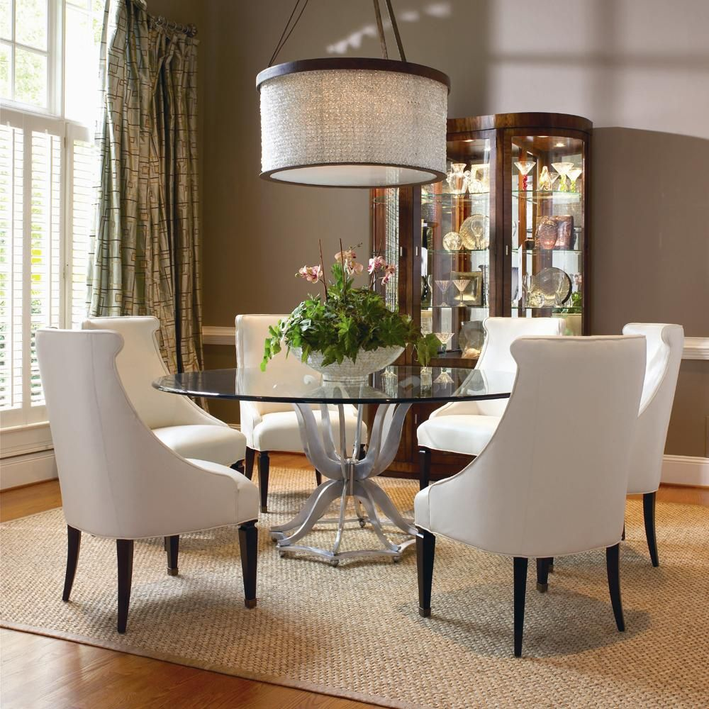 Omni Metal Base Dining Table And Upholstered Chair Set By Century