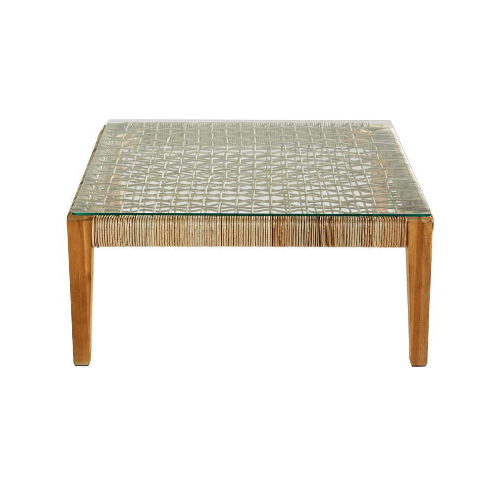 Table basse de jardin carrée en résine tressée | Products | Garten ...