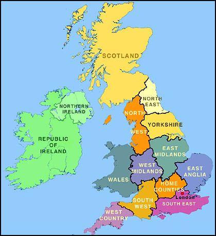 Carte Royaume Unis.Epingle Sur Angleterre