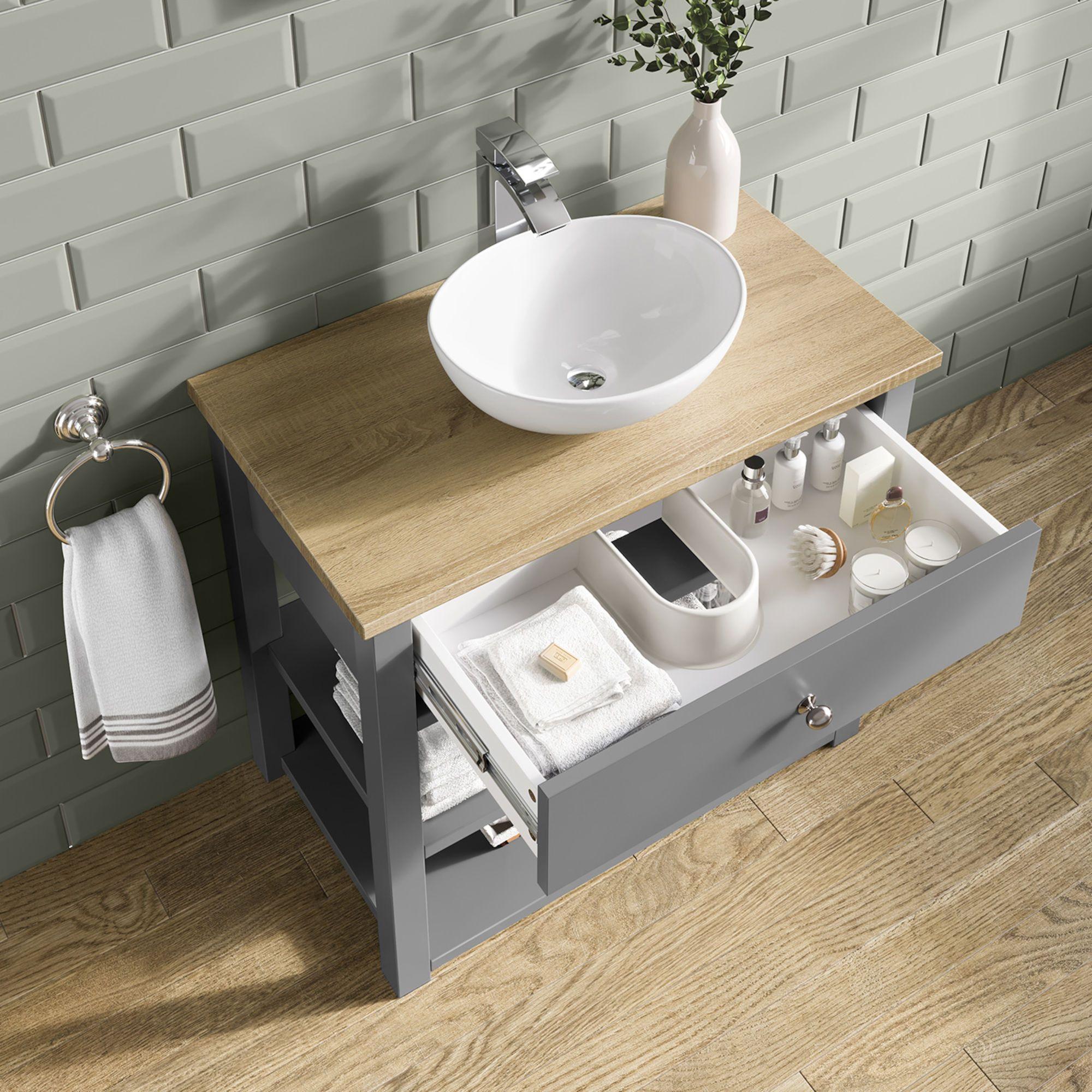 Sutton Countertop Vanity Unit And Camila Basin Soak Com Luxury